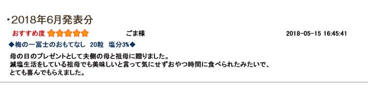 レビュー賞6月