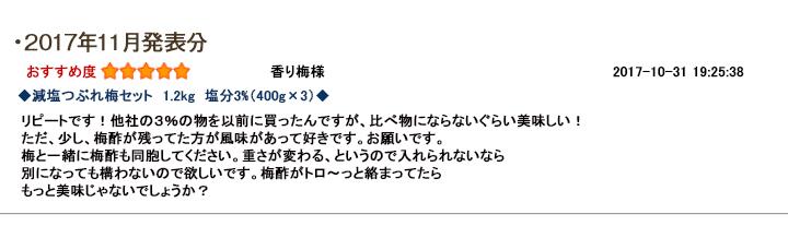 レビュー賞11月
