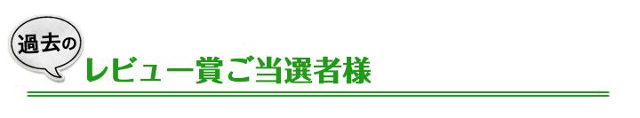 レビュー賞,過去,タイトル